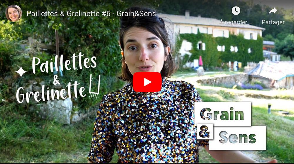 Vidéo Paillettes et Grelinette